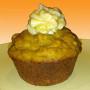 Pumpkin cupcake with pumpkin frosting
